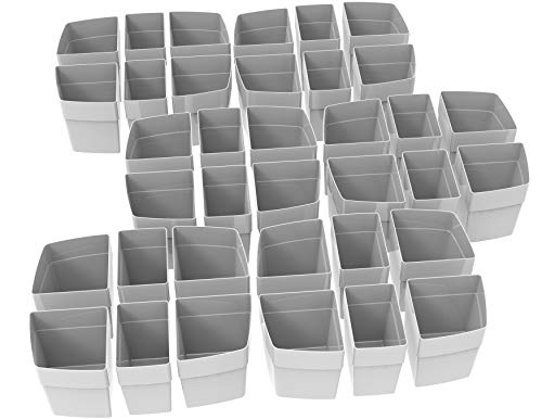 Storex 00980U06C Sorting Cups for Large Caddy (Sold Separately), 36-Pack, Gray