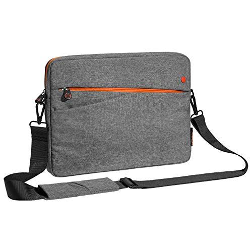 Pedea Tablet PC Tasche Fashion für 12,9 Zoll (32,8 cm) Tablet Schutzhülle mit Zubehörfach & Schultergurt, grau/orange