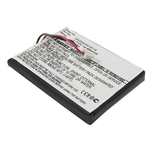 subtel® Batería Premium Compatible con Creative Zen V, Zen V Plus - BA20603R79919 (650mAh) bateria Repuesto Pila