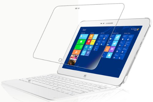 Find Discount IQ Shield Screen Protector Compatible with Samsung ATIV Tab 3 (Tablet and Keyboard) Li...
