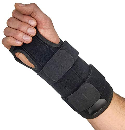 Wrist Brace for Carpal Tunnel Relief – Reversible Hand or Wrist Splint Carpal Tunnel Brace for Left or Right Hand Support Forearm Brace & Wrist Compression for Arthritis Wrist Tendonitis (Small/Med)