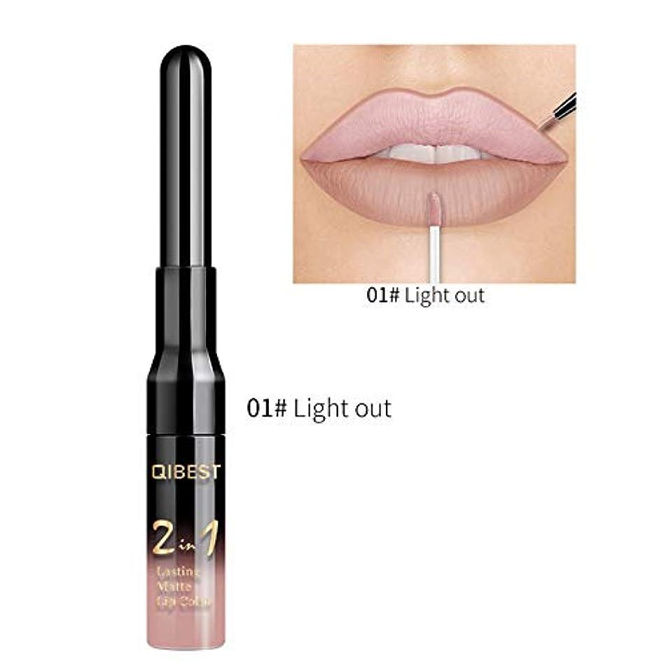 20 Color Liquid Lipstick Pink Purple Red Lip Long-Lasting Waterproof Nude Mate Lips Liner Pencil Double-End Matte Lipsticks 01