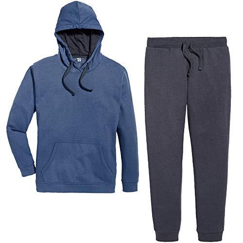 Active Touch® Damen Jogginganzug Trainingsanzug, 2-teilig (blau meliert Rauchblau, Gr. XL 48/50)