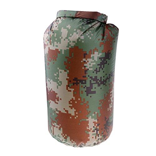perfk 5L 10L 20L Impermeable Roll Top Dry Saco de Compresión del Bolso Mantiene Gear Seco para Kayak, Playa, Rafting, Canotaje, Senderismo, Camping Y Pesca - 10L