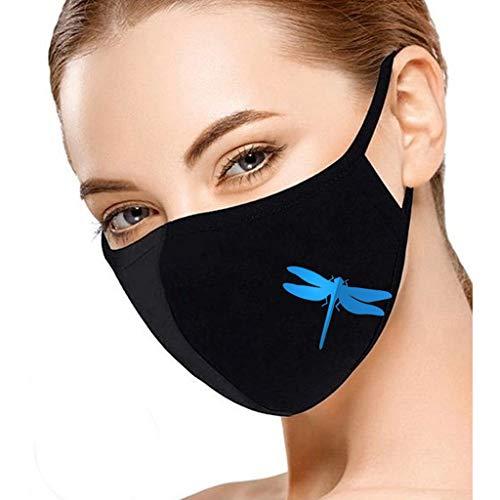 1 Stück Mundschutz Waschbar mit Motiv,Mundbedeckung Stoff Wiederverwendbare mundschutz für Erwachsene Anti-Staub mundschutz Freien reiten Sonnenschutz mundschutz (Blau)
