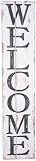 Adonis554Dan Welcome Wooden Sign - Welcome Vertical Sign - Farmhouse Style Sign- Fixer Upper- 24 inch