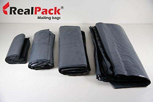 realpack® 25X gris plástico Poly Bolsas de plástico para envíos Sobres de...