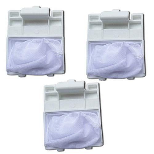 Fantisi 3 Bolso de Filtro plástico Blanco Duro de mallade Acoplamiento de Netty para Lavadora de Para Panasonic XQB70-X700W