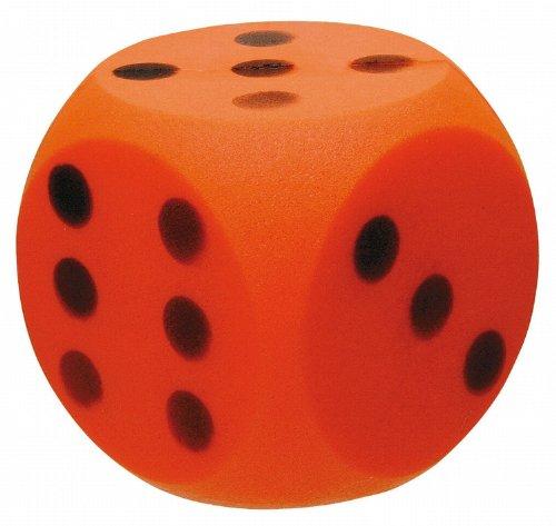 John 50756 - Softwürfel 15 x 15 cm   Orange, Gelb und Sortiert zur Auswahl (Orange)