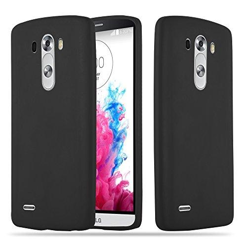 Cadorabo Funda para LG G3 en Candy Negro – Cubierta Proteccíon de Silicona TPU Delgada e Flexible con Antichoque – Gel Case Cover Carcasa Ligera