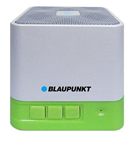 Blaupunkt BT02GR Tragbar Bluetooth Lautsprecher Sprecher, MP3-Player micro SD (32GB), Akku 800mAh (Grün)