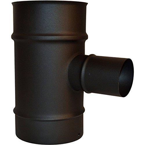 ISOTIP-JONCOUX 853408 TE 90° Piq. Air, 60 Pellet, Noir, Diamètre 80/125