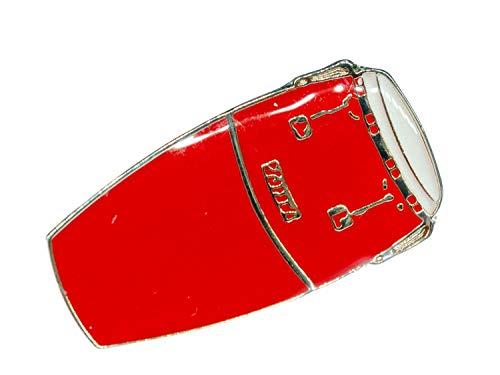 Miniblings Drum Conga - Broche de Tambor con botón de música Samba percusión músico Rojo