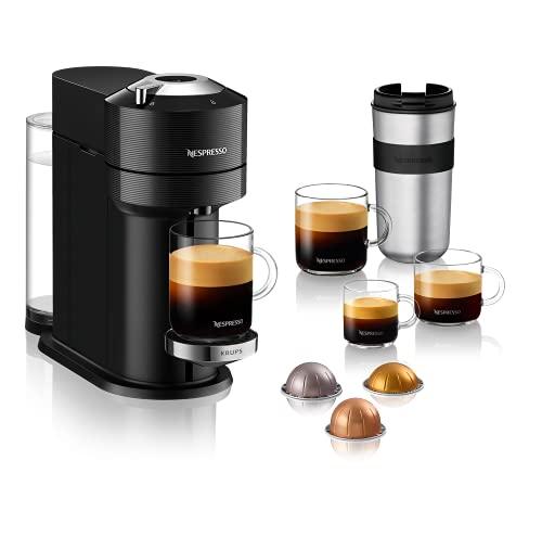 Nespresso VERTUO Next XN9108 Cafetera de cápsulas, máquina de café expreso de Krups, café diferentes tamaños, 5 tamaños tazas, tecnología Centrifusion,calentamiento30 segundos, Wifi, Bluetooth