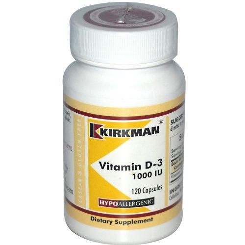 Vitamin D-3, 1000 IU, 120 Capsules