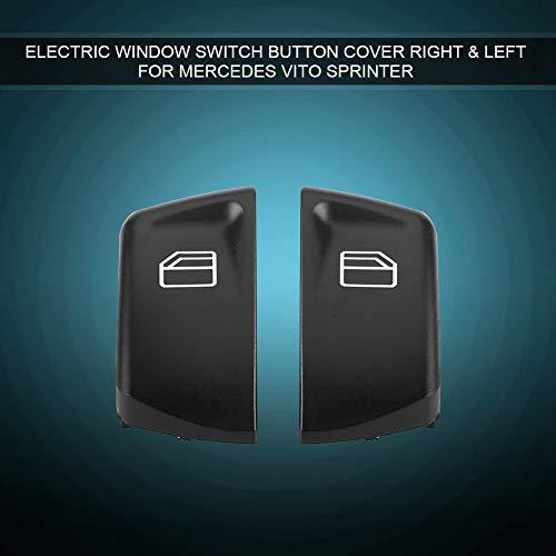 aqxreight-switch-Tastenabdeckung, 2-teilige elektrische Fensterschalter-Tastenabdeckung rechts und links