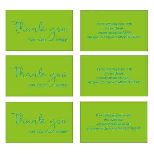 RXBC2011 Dankeskarten Paketeinlage für Online-Business E-Commerce 100 Stück grün