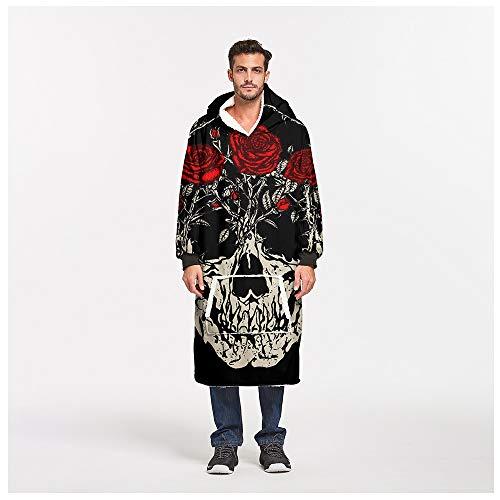 JIAYUAN Manta Manta de gran tamaño suéter con capucha for hombres, mujeres y niños, Manta Fleece Pullover Sherpa bolsillo canguro con capucha gigante con el bolsillo delantero...