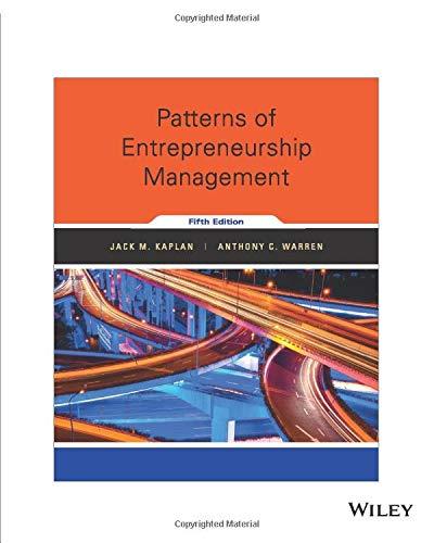 Patterns of Entrepreneurship Management, 5th Edition