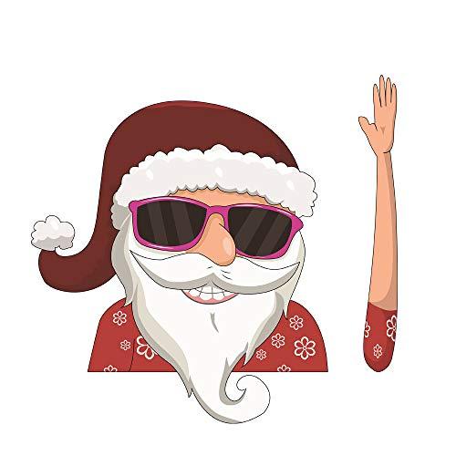 AIUIN Autoachterruitenwissersticker, leuke pvc, afneembare kerstdecoratie, cartoon, sneeuwpop, Elf, kerstman, hoeken, ruitenwissers, tags voor achterruit, ornament style 1