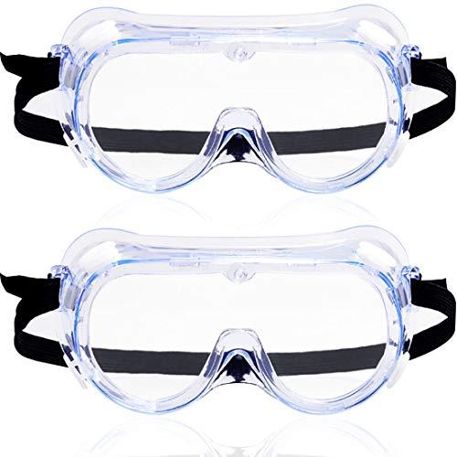 Gafas de Protección - Miotlsy Gafas de Seguridad, a Prueba de Polvo a Prueba de Viento a Prueba de Salpicaduras Anti Niebla, para Laboratorio Agricultura Industria (2 Piezas)