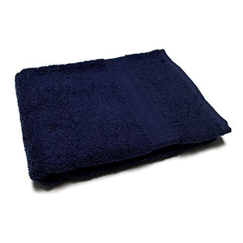 Soleil d'Ocre Drap de Bain UNI Bleu 450gr/m2, Coton, 70 x 130 cm