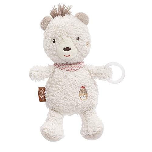 FEHN 058109 Schnullertier Bär / Spieltier mit Rassel und Schnullerhalter, passend für alle herkömmlichen Schnuller - perfekter Begleiter für Babys und Kleinkinder ab 0+ Monaten