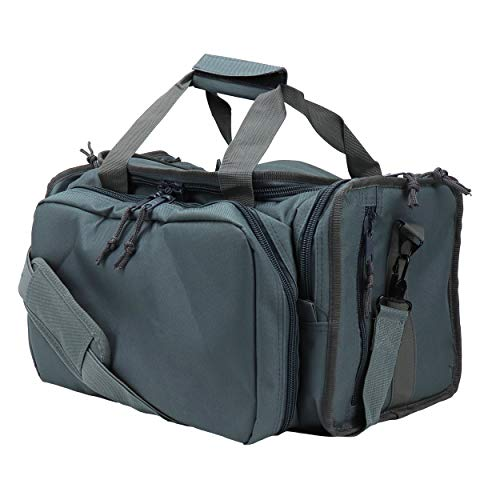 OSAGE RIVERr Tactical Range Bag for Handguns and Hunting, Travel Duffel, Standard Duty, Gunmetal Grey