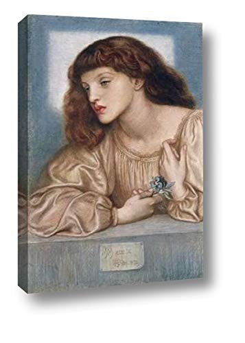 """May Morris by Dante Gabriel Rossetti - 26"""" x 38"""" Canvas Art Print Gallery Wrapped - Ready to Hang"""