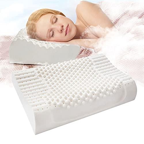 Látex Natural Puro Almohadas ortopédicas Tailandia Remedial Neck Sleep Pillow Proteger Vertebrae Health Care Ropa de Cama Almohada Cervical Almohada