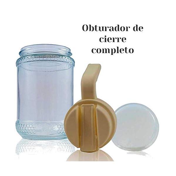 TAPAS & ENVASES RIOJA Dispensador de Miel Jarabe de Jugo y Miel, Botella