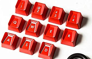 Suitable for Romer-G Switch Logitech G310 G413 G613 G810 K840 G910 Mechanical Keyboard Performance Game keycap (red 11 Keys)