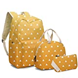 Anime Zenitsu School Backpack with Lunch Box for Teen Girls Boys Lightweight Anime Backpacks Shoulder Bag Set of 3 (Agatsuma Zenitsu)
