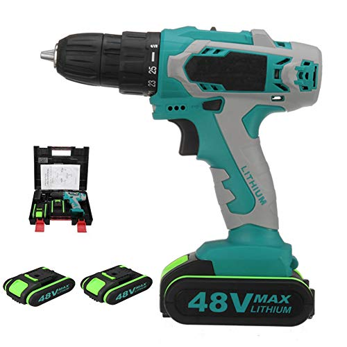 21V Li-Ion Combi Drill, 1/2 Inch Electric Drill Set Heavy Duty Cordless Drill Driver with Lithium-Ion Batery and Charger for Screwing and Fastening