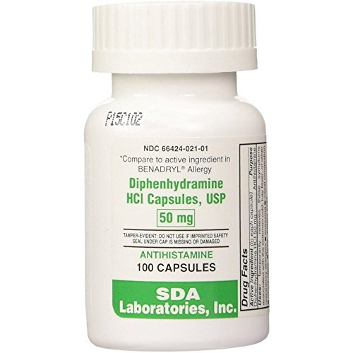 Preferred Plus Allergy Diphenhydramine Capsules 50mg 100 ea (Pack...