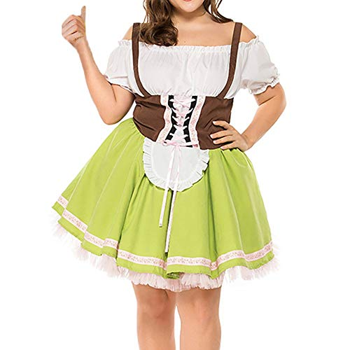 Cuteelf Frauen Bandage Größe Bayern Oktoberfest Kleidung Bar Frauen Dirndl Beer Festival Größe Maid Kostüm Kleid Größe Schulterfrei Sexy Retro Style