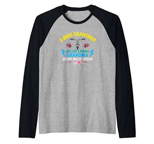 Ebike Grandma Funny E-Bike Camiseta Manga Raglan