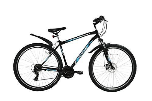 """T&Y Trade 29"""" 29 Zoll Herren Herrenfahrrad Herrenrad Jugend MTB Mountainbike Fahrrad Rad Bike Federgabel Gabelfederung Scheibenbremse Disk Shimano21 Gang 4500 Schwarz BLAU"""