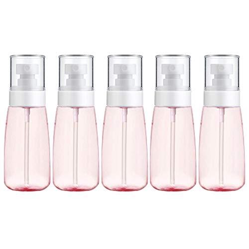 Botella vacía de Viaje cosmético 10 PCS Portátil Plastic Plastic Fine Nist Fine Spray Bottle Transparente Vacío Rociador Pulverizador Botella, 60 ml (Color : Pink)