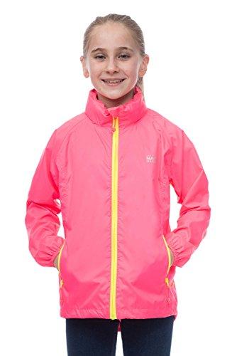 Mac in a Sac® - Manteau imperméable Fluo Mini - Enfant - Repliable - Rose Fluo - 11-13 Ans