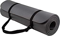 Owme 10 mm Thick Yoga and Exercise Mat Anti Skid with Carrying Strap for Gym Workout and Flooring Exercise,Owme