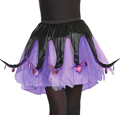 Suit Yourself Ursula Tutu for Adults, The Little Mermaid, Standard Size, with Black and Purple Tentacles on Mesh Skirt