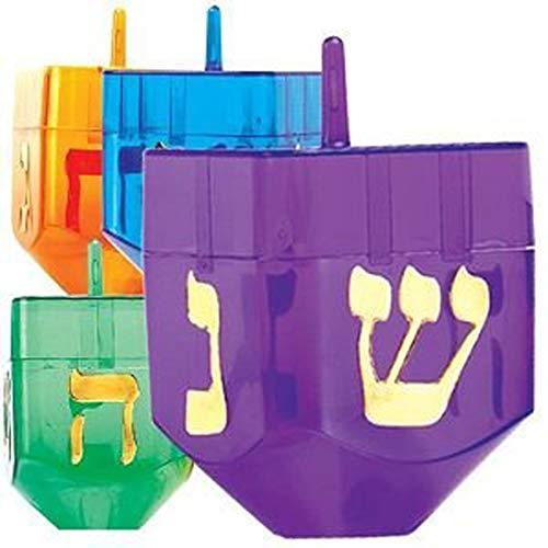Chanukah Dreidel, Plastic, Fillable 1 Pc.
