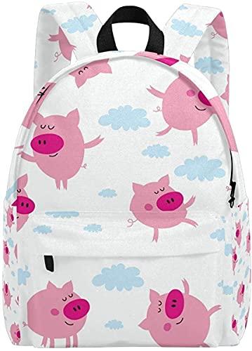Mochilas para niñas para la Escuela Pink Lindo Rabit Kid's Backpacks Rucksack Mochila Escolar Escolar Bolsas (Color : Multi3)