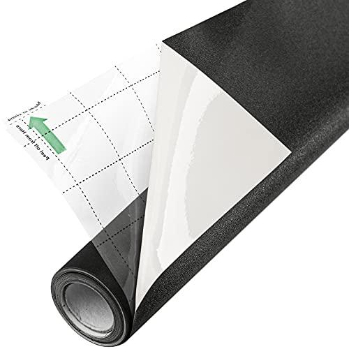 FEOMOS Pellicola oscurante totale per finestre con lato bianco resistente al calore che si aggrappano statico al 100% pellicola di vetro per oscurare la stanza, 44 cm x 200 cm