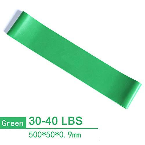 FQD&BNM Banda de tensión 2080mm Yoga Fitness Pull Rope Goma Loop Bandas de Resistencia Crossfit Muscle Power Training Strength Gym Workout Equipo de Pilates, 500mm 30,40lb