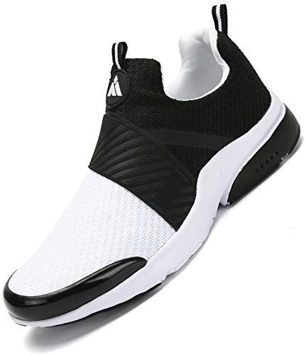 Mishansha Laufschuhe Herren Sportschuhe Dämpfung Turnschuhe Damen Atmungsaktive Fitnessschuhe Straßenlaufschuhe Sneaker Weiß 41 EU