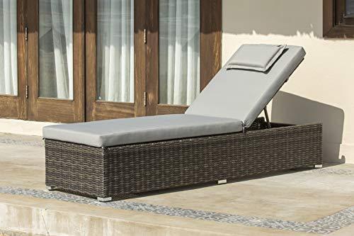 Backyard Furniture Marbella Rattan Wicker Sun Lounger