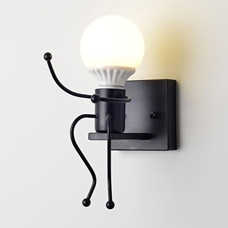 Wandleuchten Nordeuropa modern Einfache Persnlichkeit Kreative Eisen Kunst Gang Schlafzimmer Nachttisch europischen Flur Villain (Farbe   schwarz)