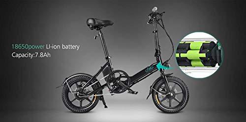 GoZheec FIIDO D3 Vélo électrique, Batterie E Bikes 7.8AH 36V Pliable avec Pneu Antichoc de 14 Pouces pour Hommes Adolescents en Plein air Fitness City Commuting (Noir)